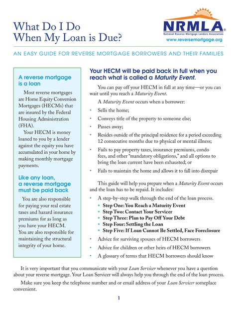 What Do I Do When My Loan is Due?